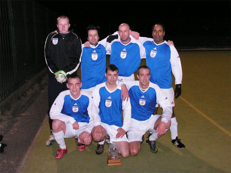 The winning Sassco team with the AGUK Super League trophy